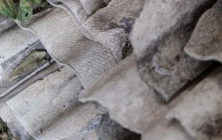 Old building materials used for roofing